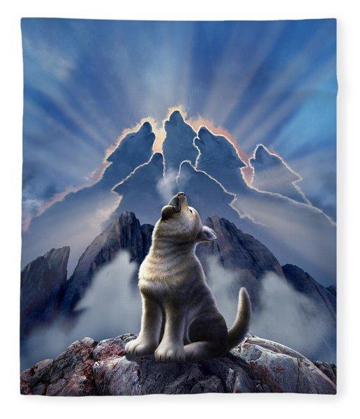 Leader Of The Pack Fleece Blanket