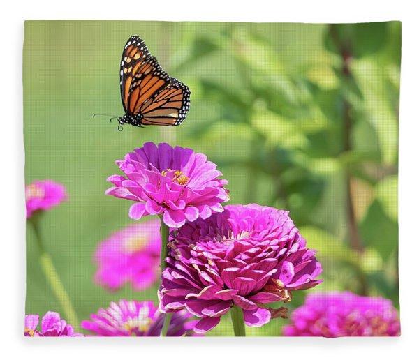 Leaping Butterfly Fleece Blanket