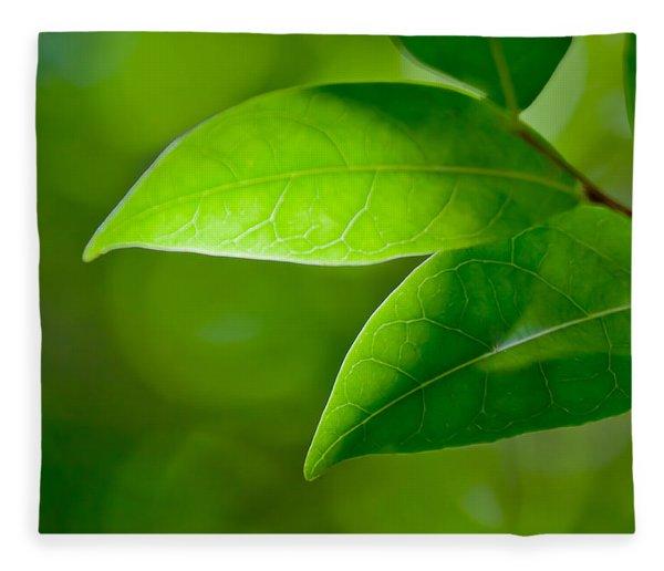 Leaves Of Green Fleece Blanket