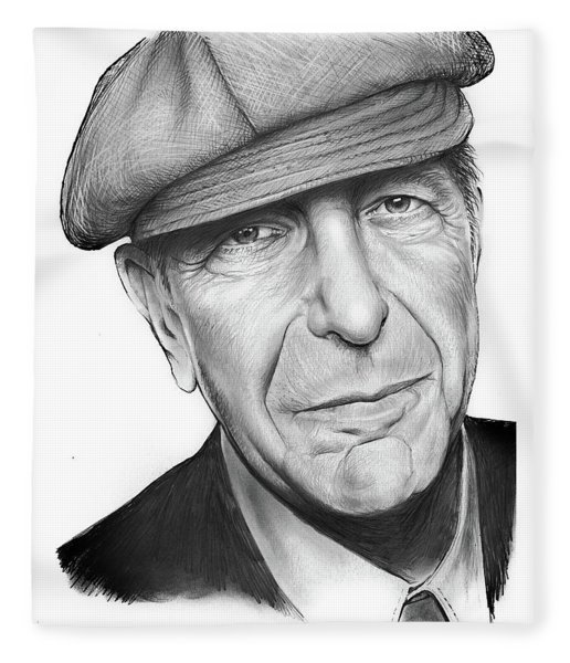 Leonard Cohen Fleece Blanket