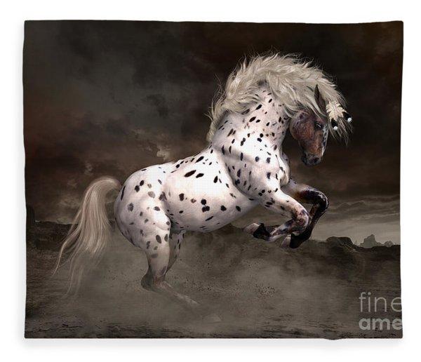 Leopard Appaloosa Shiloh Fleece Blanket