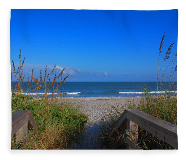 Lets Go To The Beach Fleece Blanket