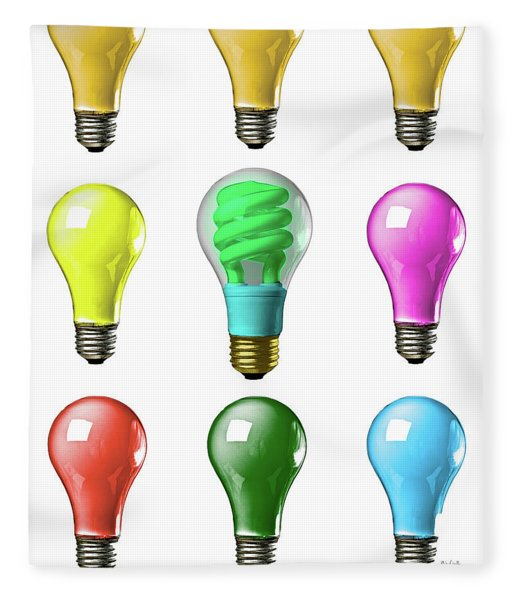Light Bulbs Of A Different Color Fleece Blanket