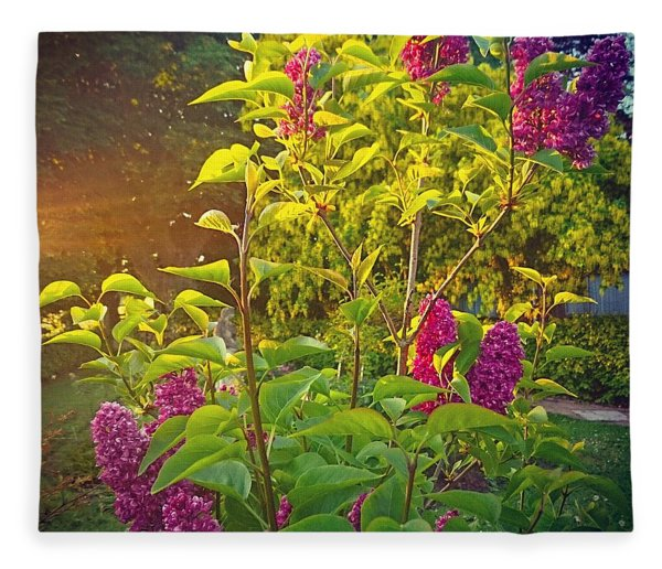 Lilac Tree Fleece Blanket