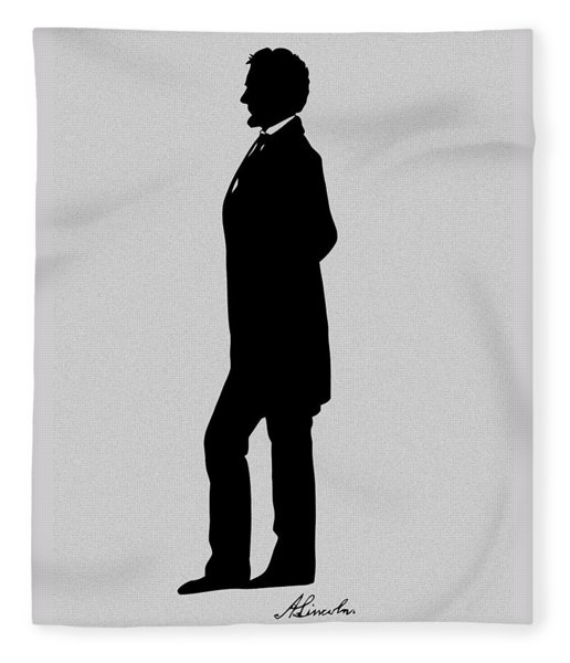 Lincoln Silhouette And Signature Fleece Blanket