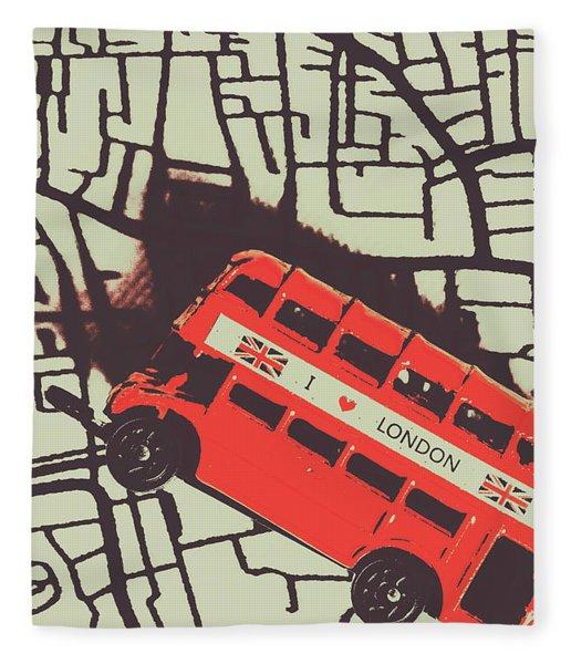 Londoners Travel Run Fleece Blanket