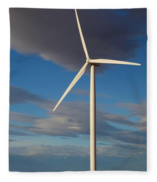 Lone Turbine Fleece Blanket