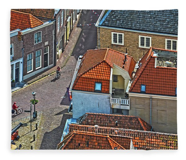 Looking Down From The Church Tower In Brielle Fleece Blanket