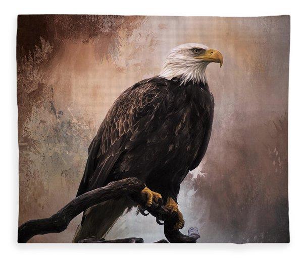 Looking Forward - Eagle Art Fleece Blanket