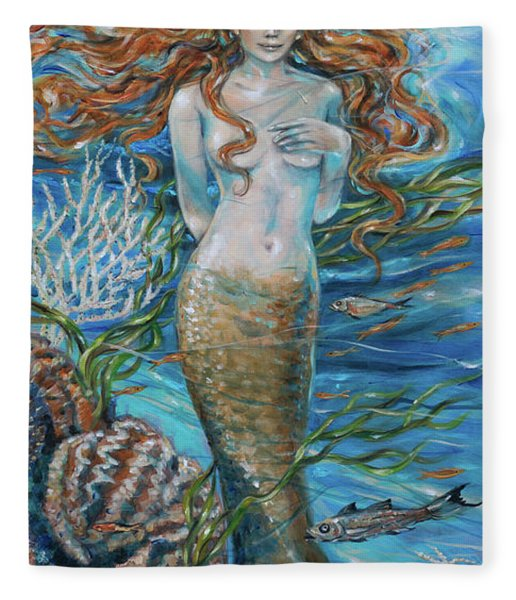 Lorelei Mermaid Fleece Blanket