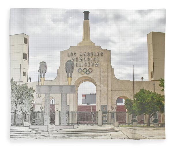 Los Angeles Memorial Coliseum  Fleece Blanket