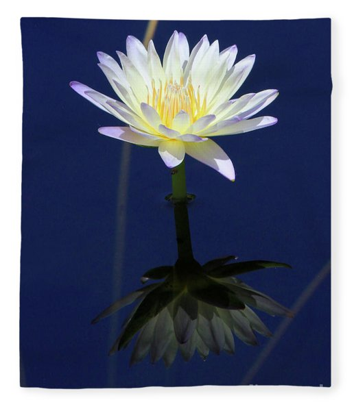 Lotus Reflection Fleece Blanket