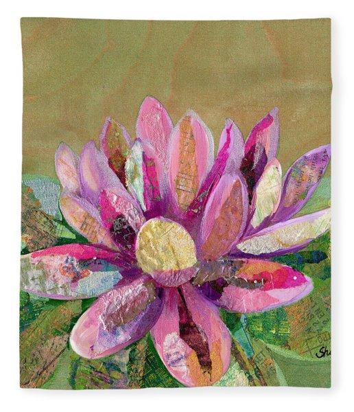 Lotus Series II - 2 Fleece Blanket