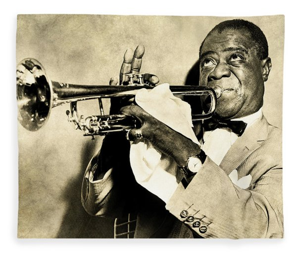 Louis Satchmo Armstrong Fleece Blanket