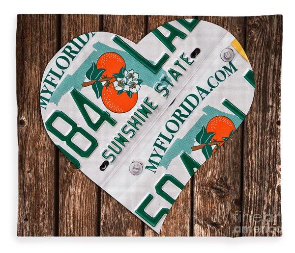 Love Florida Fleece Blanket