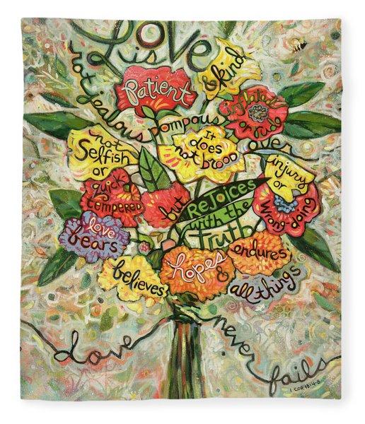 Love Is Patient Fleece Blanket