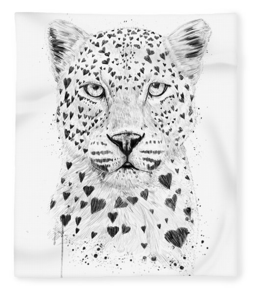 Lovely Leopard Fleece Blanket