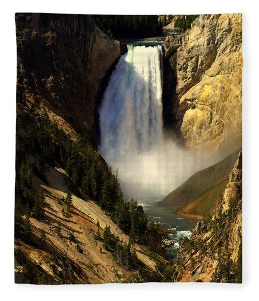 Lower Falls 2 Fleece Blanket