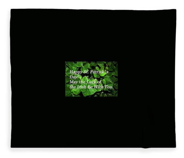 Luck Of The Irsh Fleece Blanket