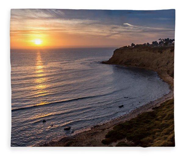 Lunada Bay Sunset Fleece Blanket