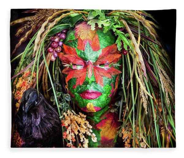 Maiden Of Earth Fleece Blanket