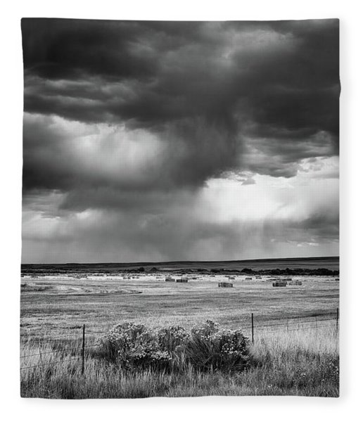 Malheur Storms Clouds Fleece Blanket