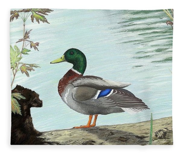 Mallard 2010 Fleece Blanket