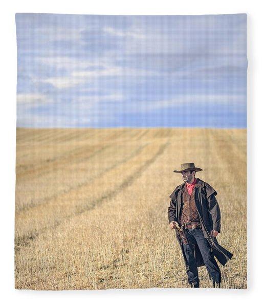 Man Of The West Fleece Blanket