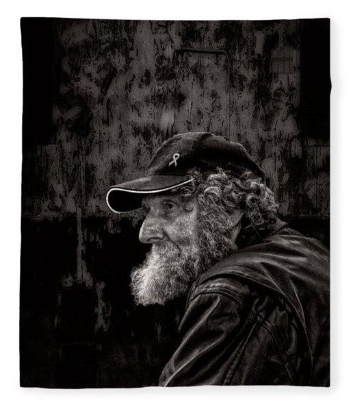 Man With A Beard Fleece Blanket