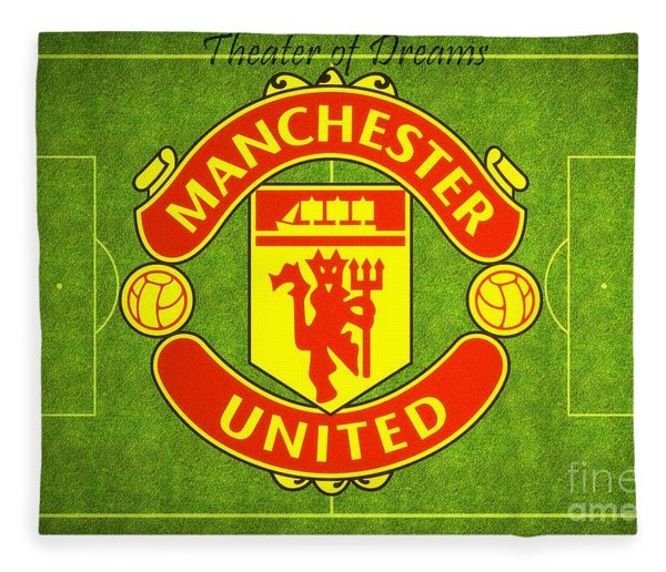 Manchester United Theater Of Dreams Large Canvas Art, Canvas Print, Large Art, Large Wall Decor Fleece Blanket