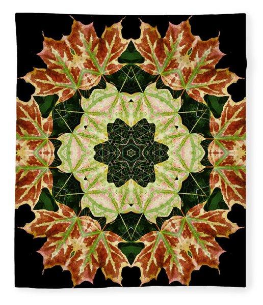 Mandala Autumn Star Fleece Blanket