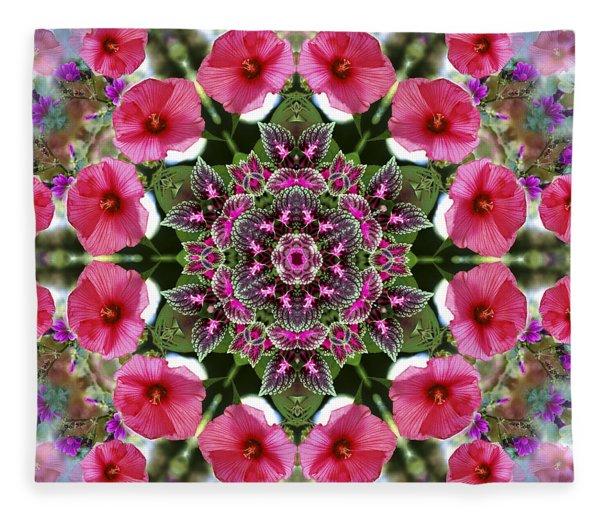 Mandala Pink Patron Fleece Blanket