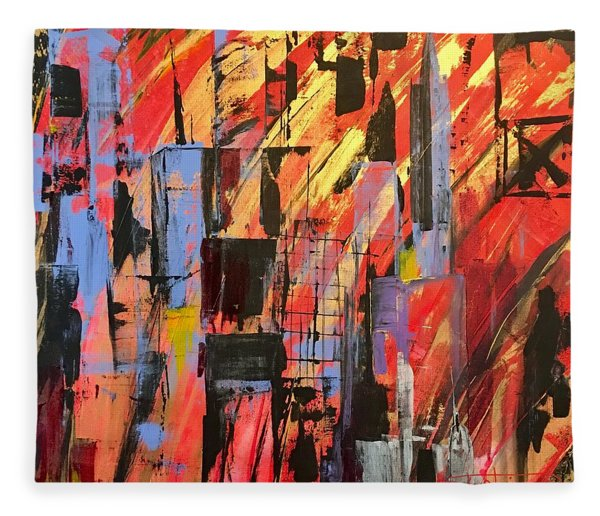 Manhattan Life Fleece Blanket