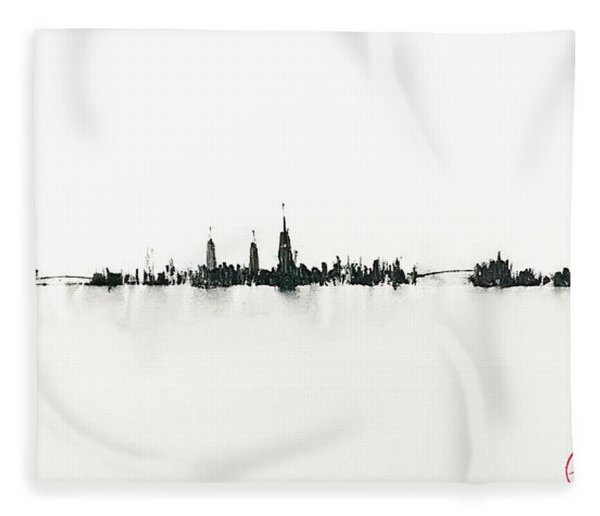 Manhattan Silhouette Fleece Blanket