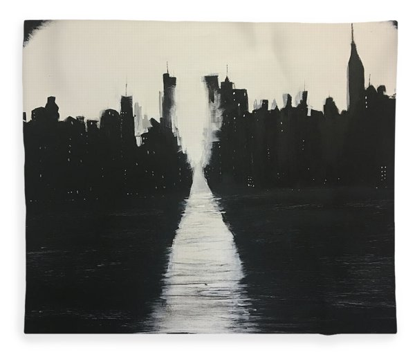 Manhattanhenge 1 Fleece Blanket