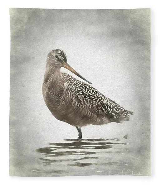 Marbled Godwit Fleece Blanket