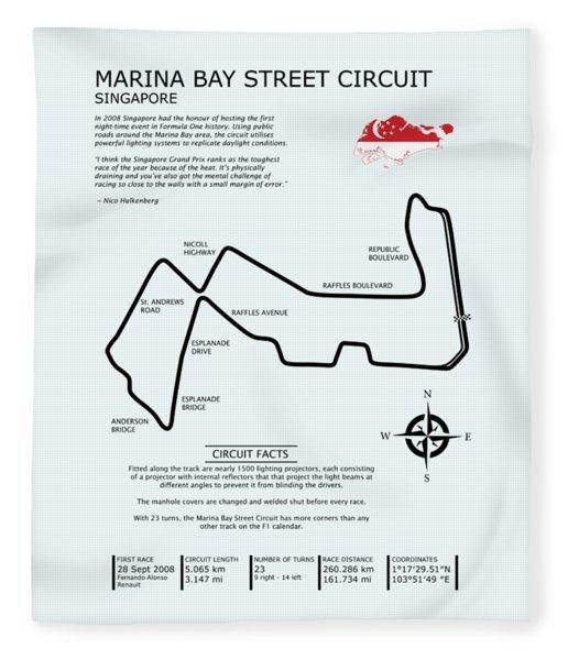 Marina Bay Circuit Fleece Blanket