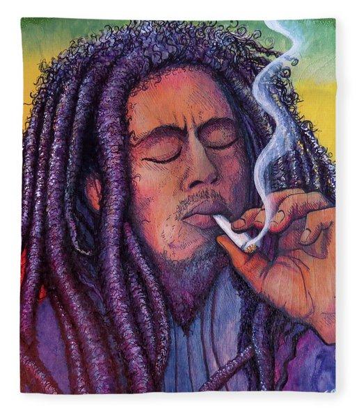 Marley Smoking Fleece Blanket