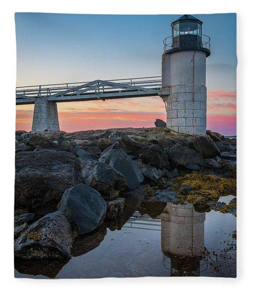 Marshall Point Reflection At Sunrise Fleece Blanket