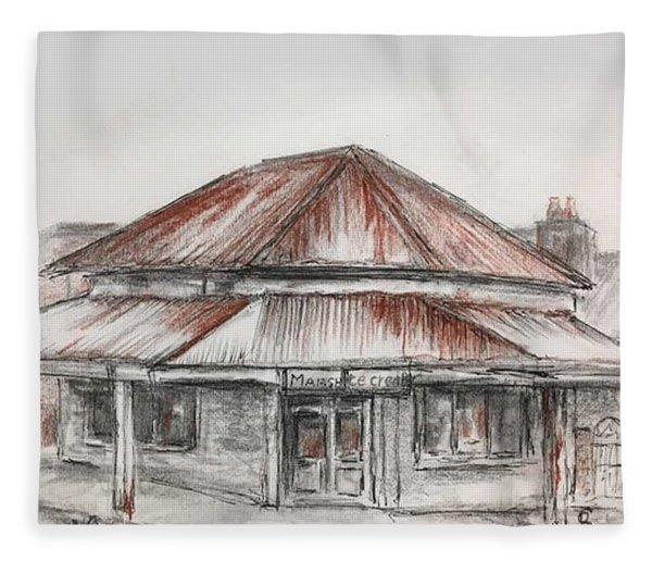 Marsh's Corner Store Fleece Blanket