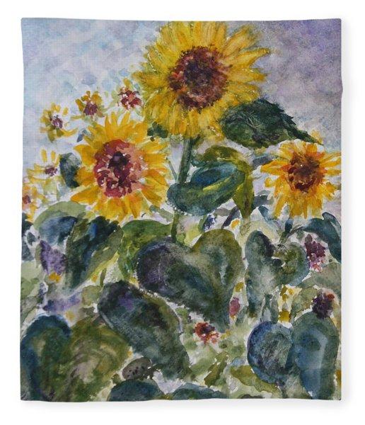 Martha's Sunflowers Fleece Blanket