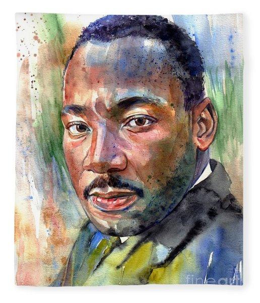 Martin Luther King Jr. Painting Fleece Blanket