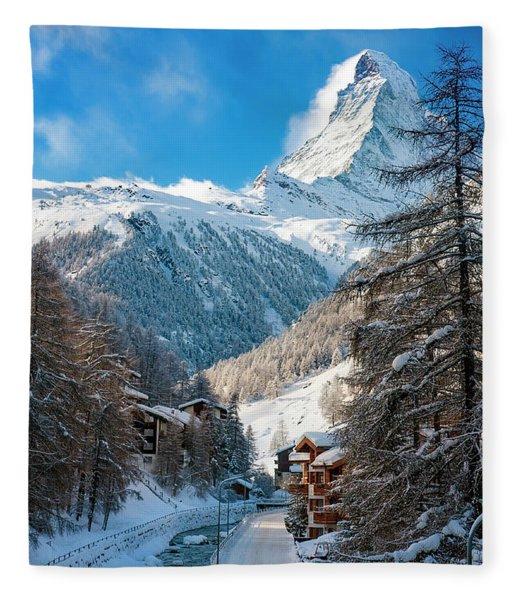Fleece Blanket featuring the photograph Matterhorn  by Brian Jannsen
