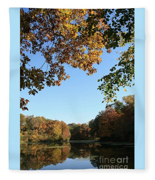 Matthiessen Lake In Autumn Fleece Blanket