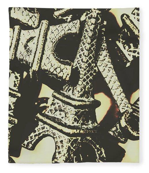 Mementos Of Paris France Fleece Blanket