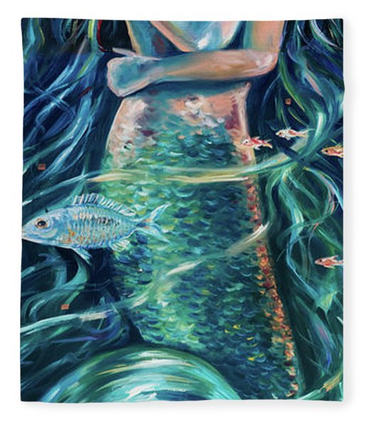 Mermaid Swirl Glow Fleece Blanket
