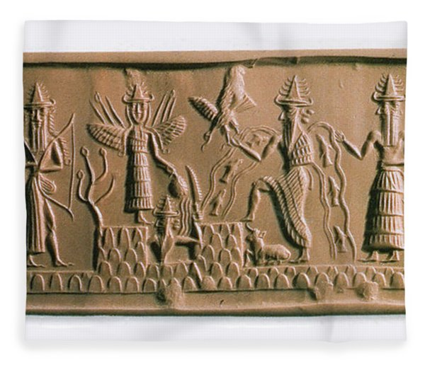 Mesopotamian Gods Fleece Blanket