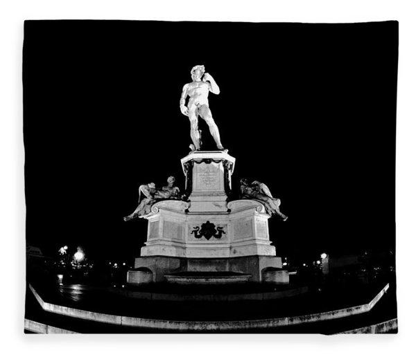 Michelangelo At Night Fleece Blanket