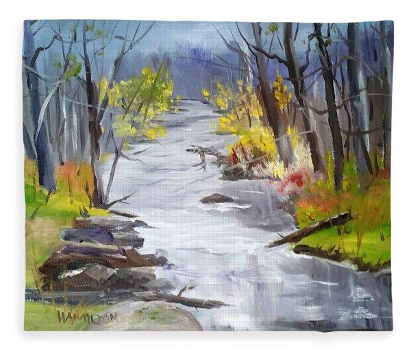 Michigan Stream Fleece Blanket