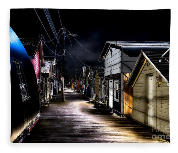 Midnight At The Boathouse Fleece Blanket